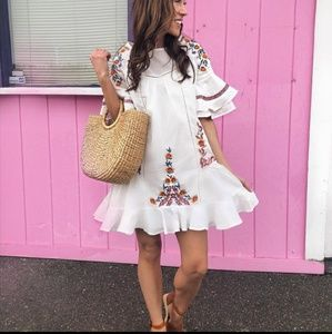 Goodnight Macaroon Embroidered dress